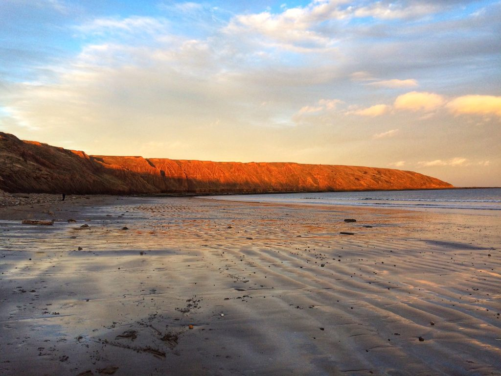 Carr Naze, Filey, at sunset