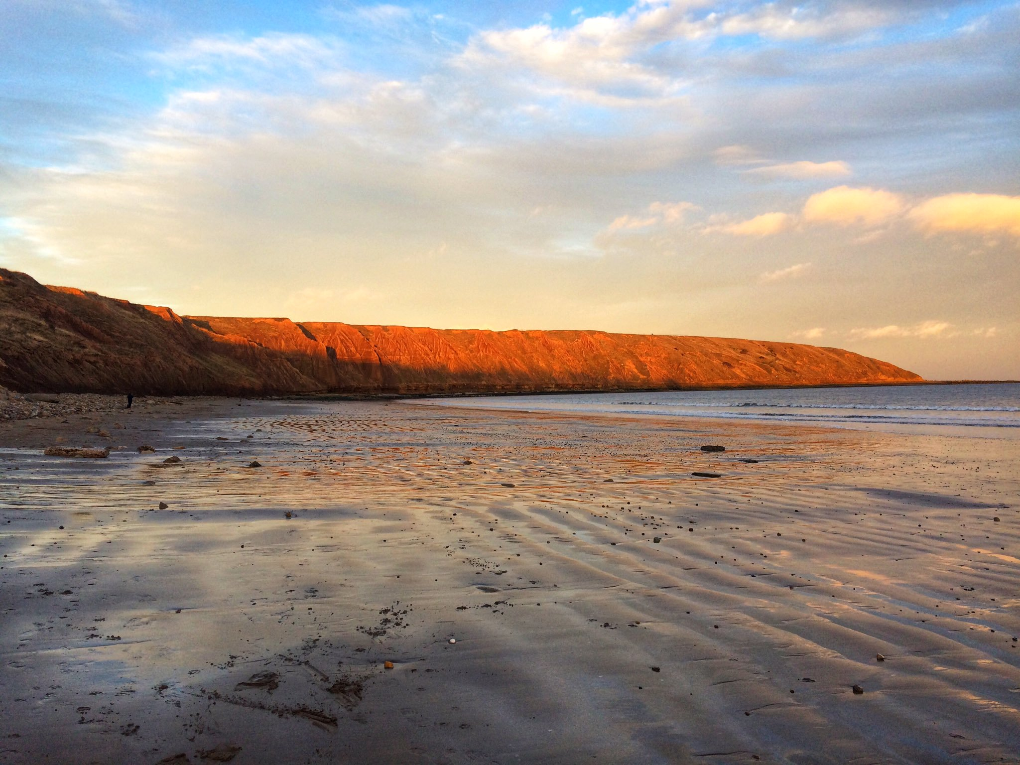Sunset over Filey Beach