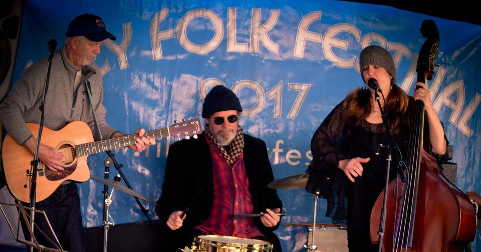 band at Filey folk festival