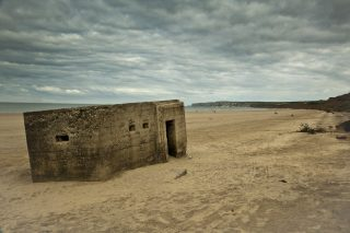 Second World War pillbox on Filey Beach