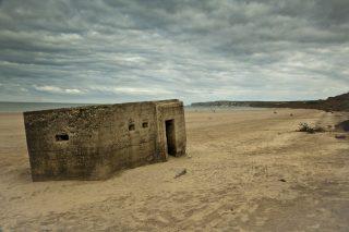 Second World War pillbox on Filey Beach