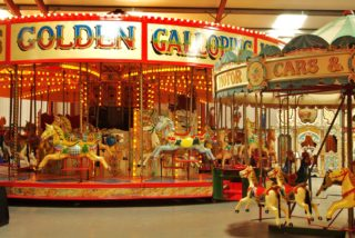 Vintage fairground ride