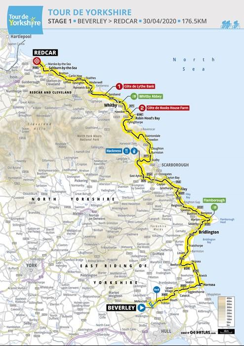 Tour de Yorkshire route map