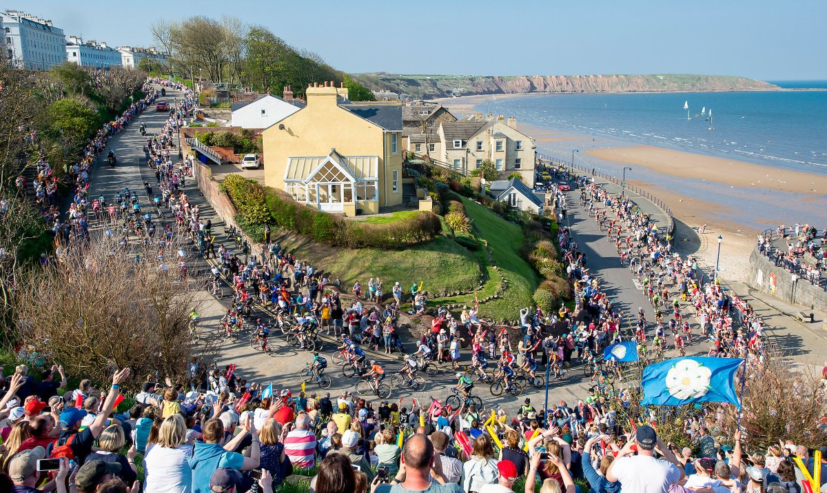 Tour de Yorkshire at Filey