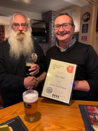 Star receiving rural pub of 2019 award