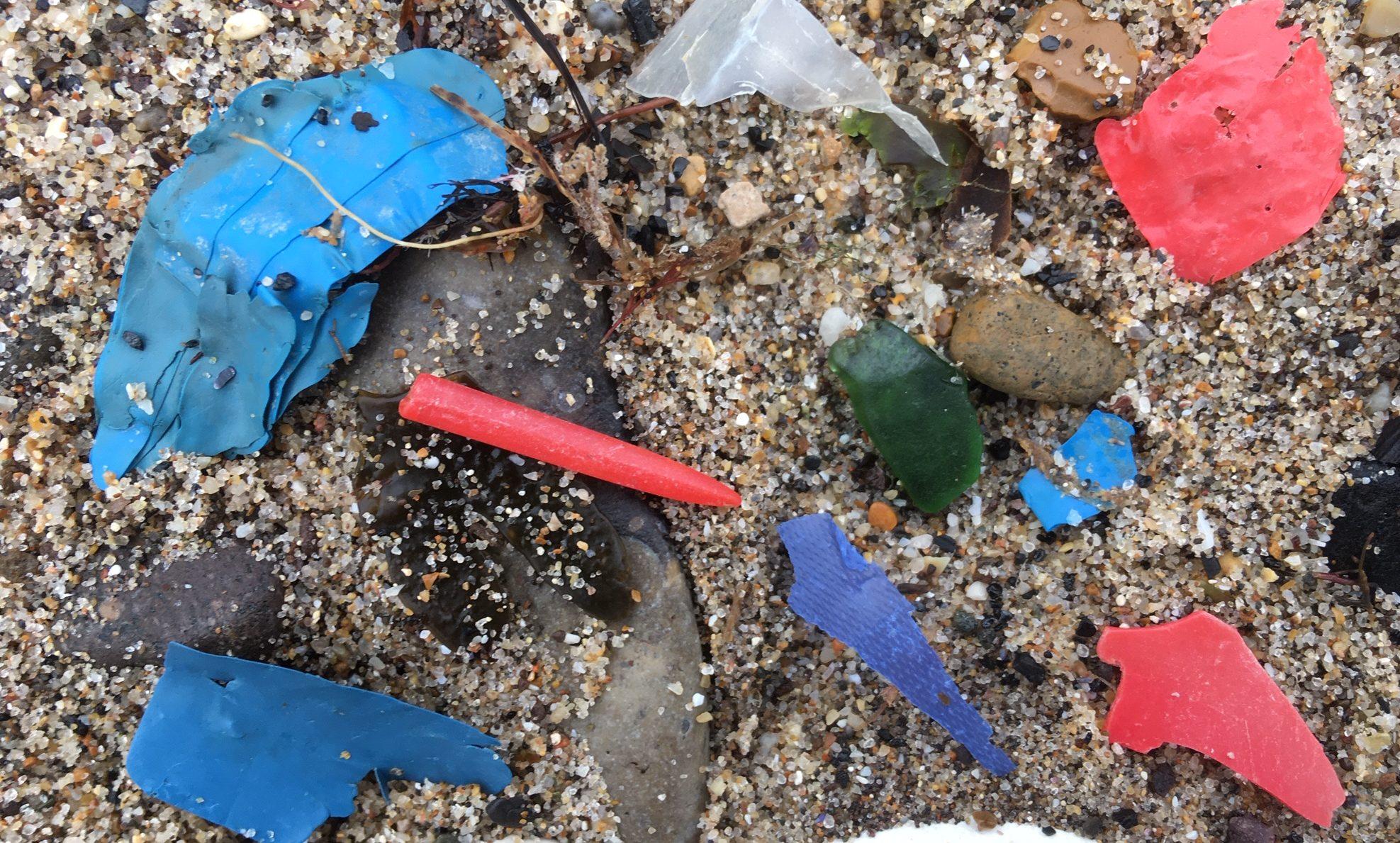rubbish on Filey beach
