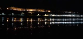 Filey seafront by night