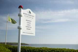 Sign at White Lodge, Filey