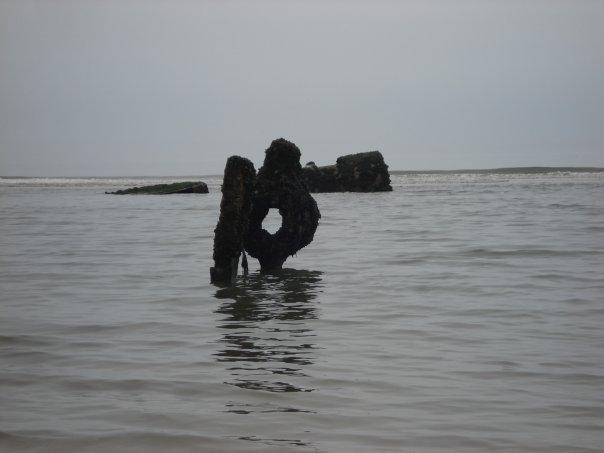 Ship wreck Filey Bay