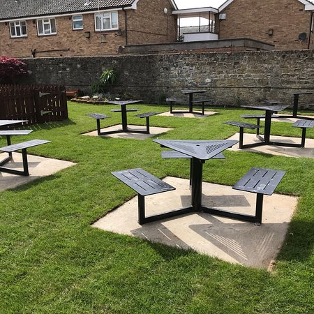 Beer garden at The Star, Filey