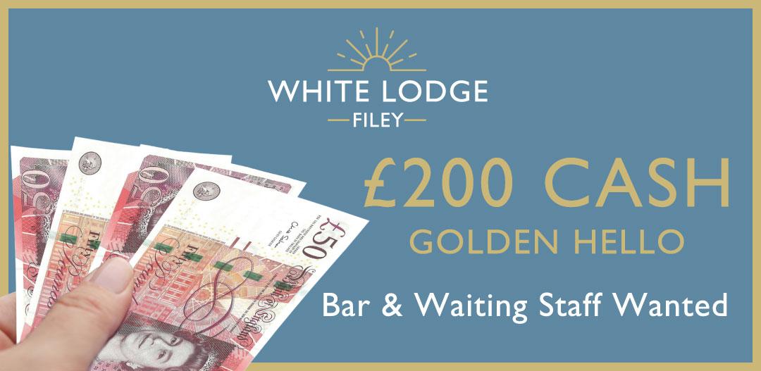 bar staff wanted - £200 cash golden hello