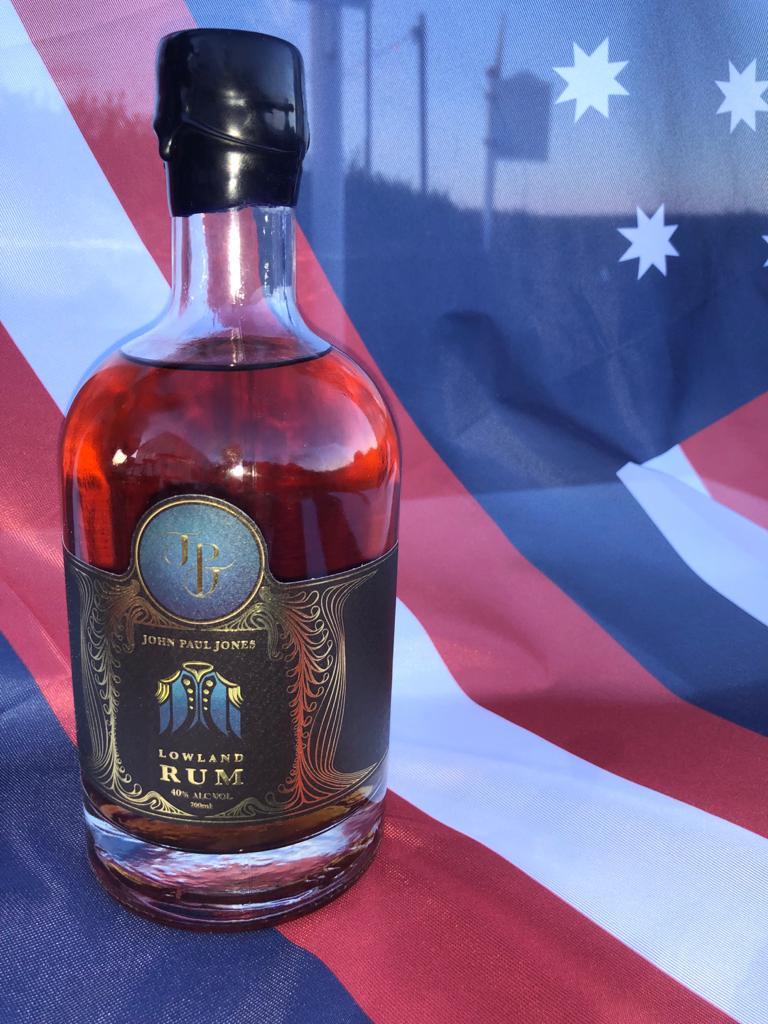 bottle of John Paul Jones Rum